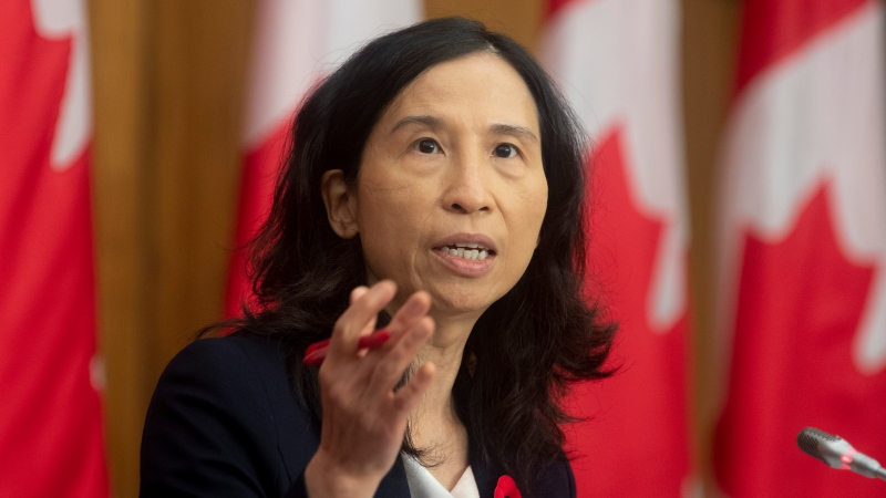 Canada's Chief Public Health Officer Theresa Tam responds to a question during a news conference in Ottawa, Tuesday, November 10, 2020. THE CANADIAN PRESS/Adrian Wyld