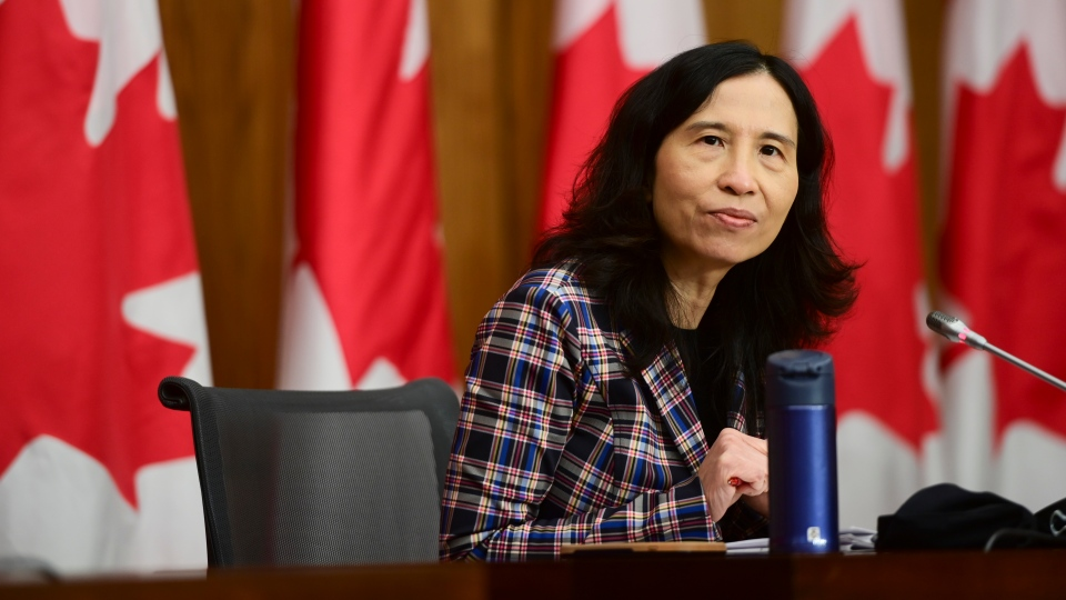 Chief Public Health Officer Dr. Theresa Tam provides an update on the COVID pandemic during a press conference in Ottawa on Friday, Nov. 13, 2020. THE CANADIAN PRESS/Sean Kilpatrick