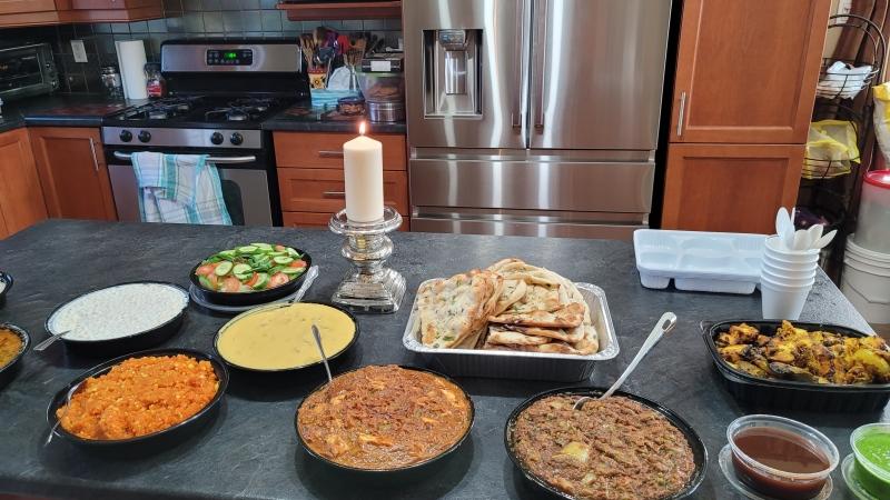 The London Hindu Community celebrates Diwali with royal lunch in St. Thomas, seen on Nov 14, 2020 (Hindu Community / CTV News)
