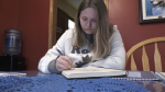 Meghan Barnes,17, says her family, especially her grandmother, are what pushed her to enter for a chance to have her artwork displayed. Nov. 15/20 (Christian D'Avino/CTV News Northern Ontario)