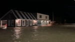Water levels reached store fronts along Main Street in Port Dover on Sunday, Nov. 15, 2020. (Courtesy Billy Pickles)