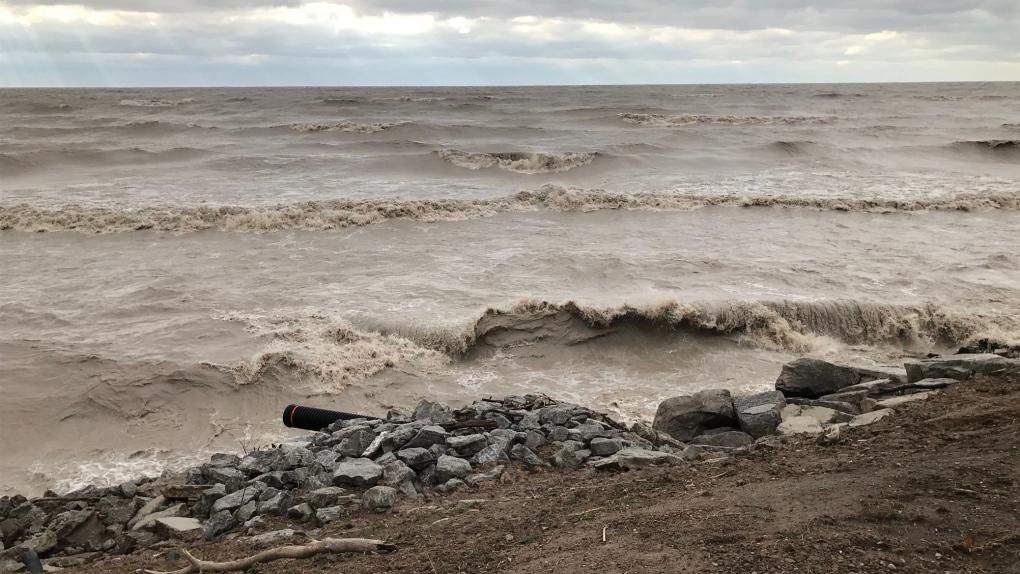 Lake Erie waves