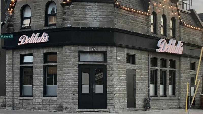 Delilah's restaurant in London, Ont. is seen Monday, Nov. 16, 2020. (Jim Knight / CTV News)