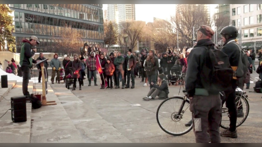 Calgary mask protest