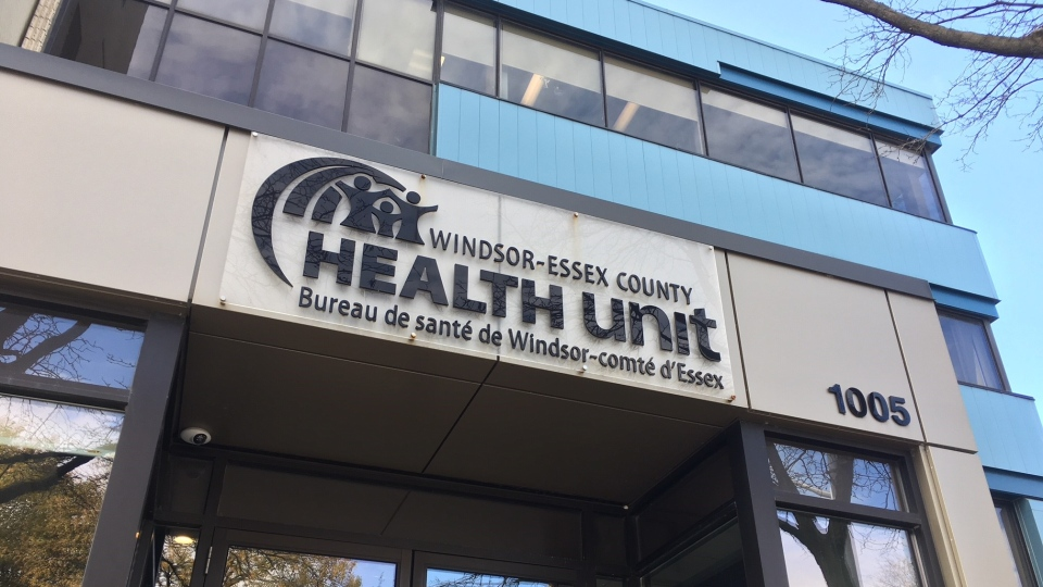 The Windsor-Essex County Health Unit in Windsor, Ont.,on Monday, Nov.2, 2020. (Chris Campbell / CTV Windsor)