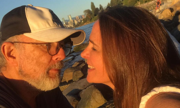 A photo posted by Sheila Kelley on Instagram shows her and her husband, Richard Schiff.