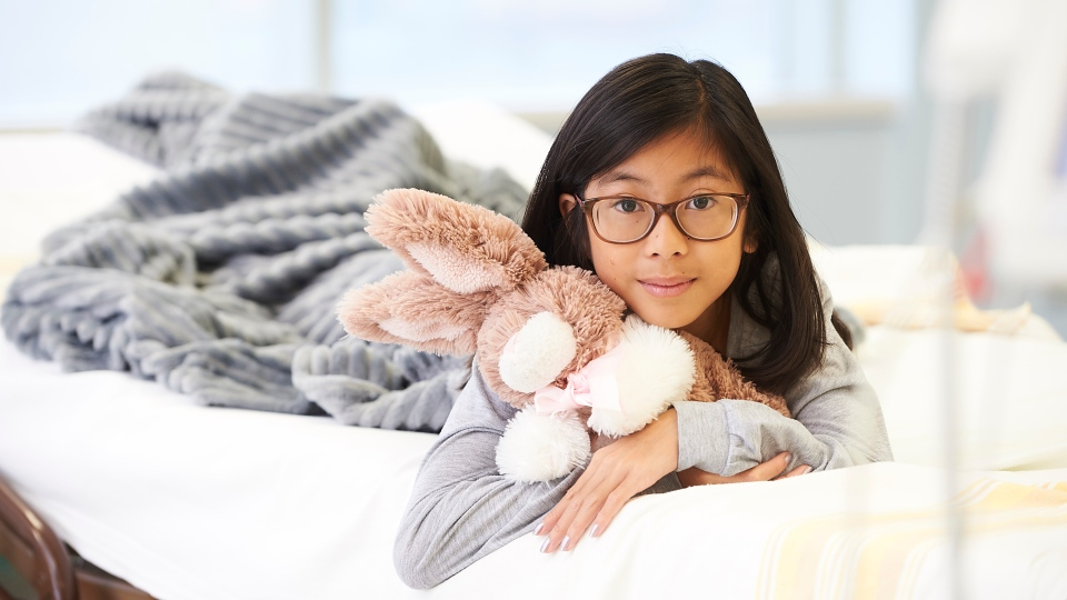 Gianna Eusebio (pictured) was the size of a cell phone when she was born prematurely - she was blind and had congestive heart failure, but now this girl is giving back to the neonatal unit that saved her life. (Submitted: Children's Hospital Foundation of Manitoba)