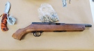 The Owen Sound Police Service released this image of a sawed-off rifle seized on Tuesday, Nov. 17, 2020.