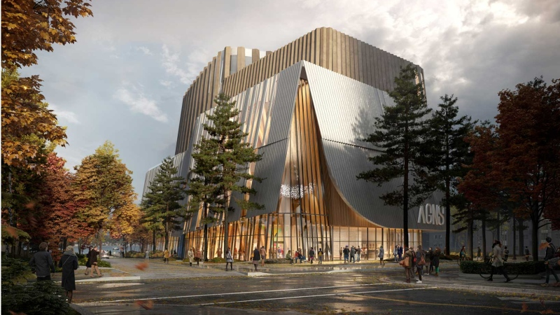 A rendering of the winning design for Halifax's new Art Gallery of Nova Scotia (Photo via Art Gallery of Nova Scotia).