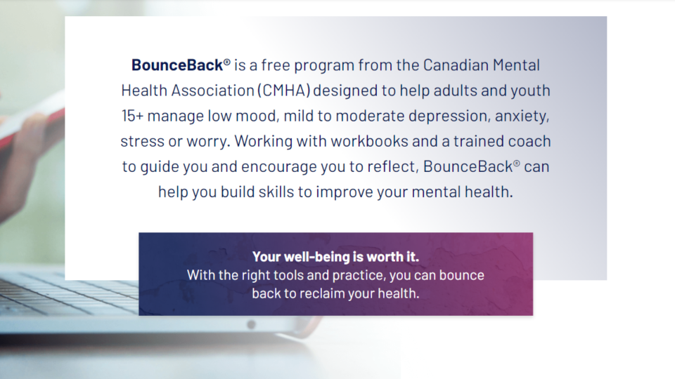 BounceBack has launched in Saskatchewan. (bounceback.cmha.ca)