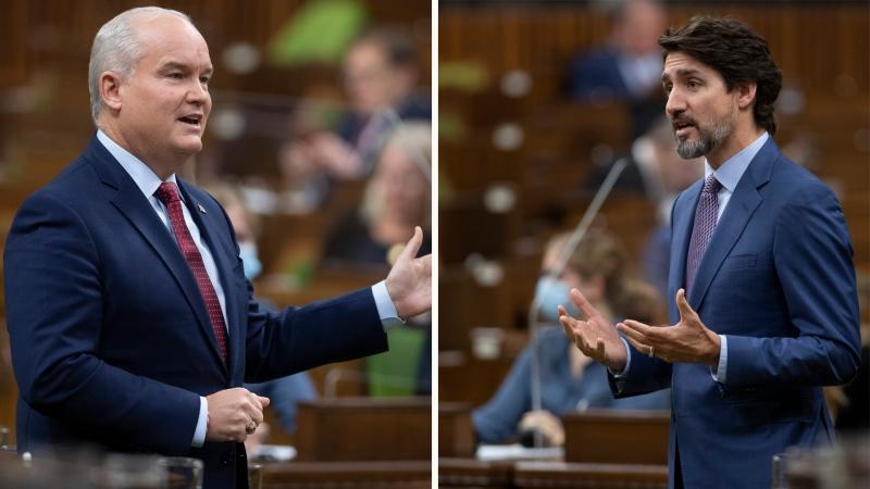 Trudeau, O'Toole spar over Keystone XL pipeline