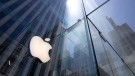 In this June 16, 2020, file photo, the sun is reflected on Apple's Fifth Avenue store in New York. (AP Photo/Mark Lennihan, File)