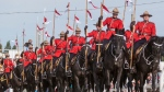 The Royal Canadian Mounted Police performing their musical ride during this week's International Ploughing Matches on September 23, 2016 in Harriston, Ontario, Canada. (Norm Betts / Barcroft Media via Getty Images)