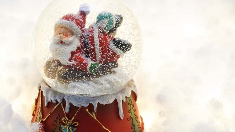A Christmas-themed snow globe is pictured in this file photo. (Susanne Jutzeler / Pexels)
