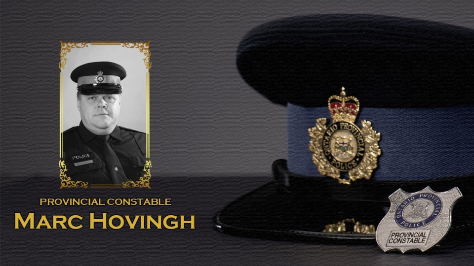 OPP Const. Marc Hovingh was killed in the line of