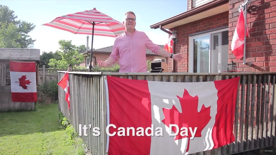 Stewart Reynolds appears in this Canada Day meme (Source: Stewart Reynolds)