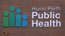 Huron Perth Public Health sign (Scott Miller / CTV News)