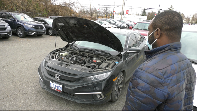 Raymond Odame-Gyimah tells CTV News Ottawa a dealership told him it will cost $6,000 to fix his motor after a fuel mix-up at a Barrhaven Petro Canada. (Jeremie Charron/CTV News Ottawa)