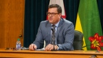 Saskatchewan Health Minister Paul Merriman speaking Nov. 19 about rising COVID-19 cases. (Marc Smith/CTV News)