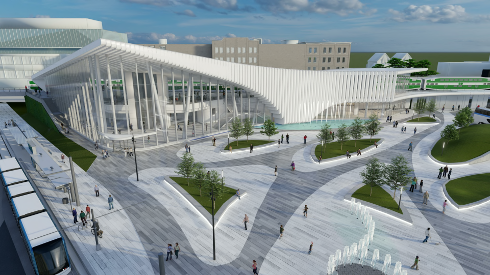 A transit hub design for Kitchener-Waterloo (Source: Region of Waterloo)