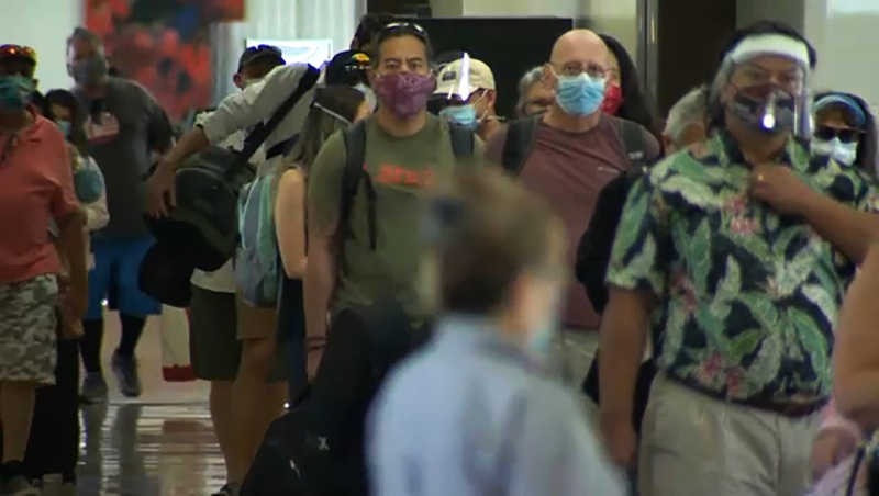 Hawaii is promoting itself as a holiday destination in the pandemic. The state has one of the lowest COVID-19 rates in the U.S.