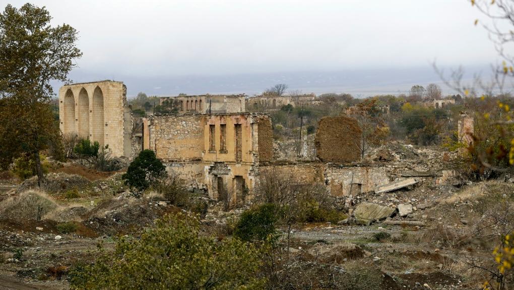 Nagorno-Karabakh: Azeri army enters first territory ceded by Armenia