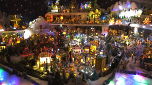 Vivianne Slade's Christmas village has grown to take up an entire room of her house.