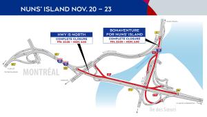 Nuns' Island closures Nov. 20-23