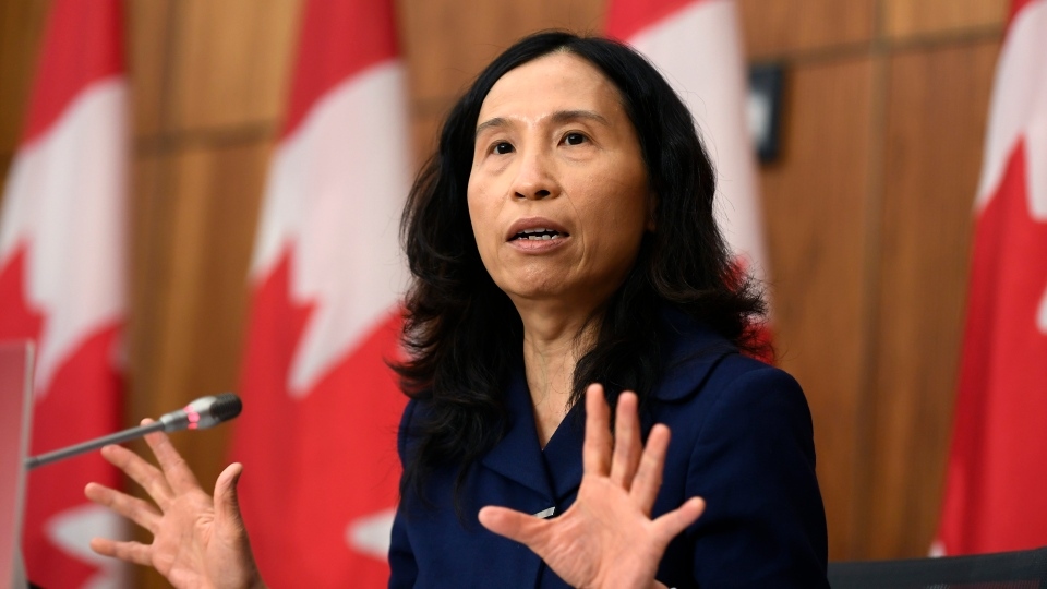 Chief Public Health Officer of Canada Dr. Theresa Tam speaks during a news conference on the COVID-19 pandemic in Ottawa, on Friday, Nov. 20, 2020. THE CANADIAN PRESS/Justin Tang