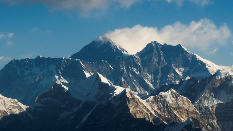 Traces of microplastics have been found as high as 8,440 metres on Mount Everest, just short of the summit. (AFP)