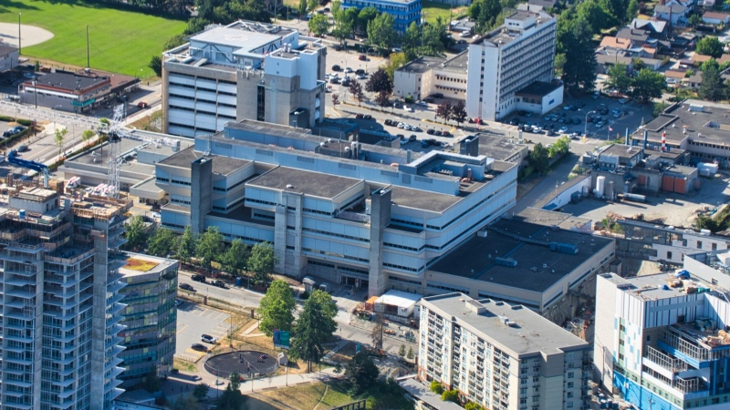 Royal Columbian Hospital is seen in New Westminster, B.C., in 2019.