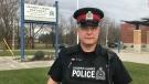 Strathroy-Caradoc Police Const. Mark Thuss is seen in Strathroy, Ont. on Friday, Nov. 20, 2020. (Sean Irvine / CTV News)