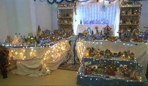 Sylvin Lacroix's collection includes 75 houses, 100 vehicles, 200 animals, 15 circus rides and 250 bonhommes. (Lydia Chubak/CTV News)