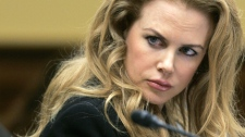 Nicole Kidman listens to testimony before the House International Organizations, Human Rights and Oversight Subcommittee hearing on violence against women on Capitol Hill in Washington, Wednesday, Oct. 21, 2009. (AP / Susan Walsh)