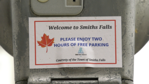 Smiths Falls is offering two-hours free, on-street parking. (Nate Vandermeer/CTV News Ottawa)