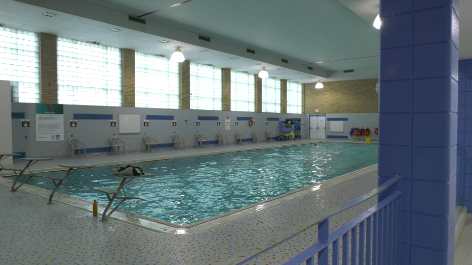 A pool at the Downtown Regina location of the YMCA is seen in this image. The YMCA announced two locations, including the downtown facility, would be closing. (Claire Hanna/CTV News)
