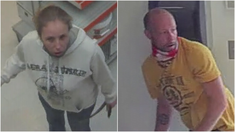 High River RCMP are looking to identify these two people in connection with a fraud at a local business. (Supplied)