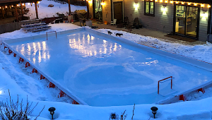 A TMR company is working overtime to fill orders for DIY backyard ice rinks. SOURCE: Ice N' Go/Facebook
