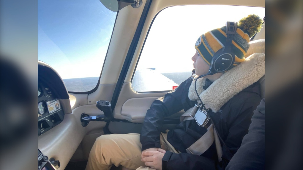 Anthony in plane