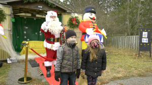 Santa Claus dropped by the annual Christmas Market in Kemptville, in support of St. Michael Catholic High School. (Nate Vandermeer/CTV News Ottawa)