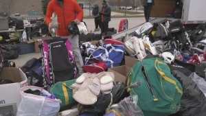 hockey equipment drive
