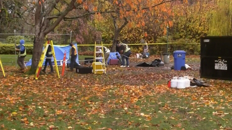 City removes showers and tents in Victoria