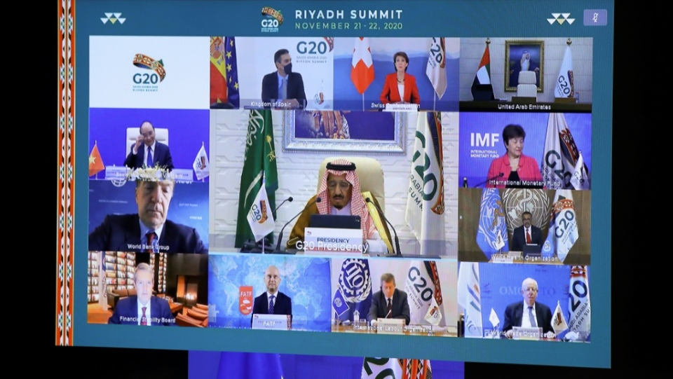 Saudi Arabia hosts a G20 summit in a first for an Arab nation, with the virtual forum dominated by efforts to tackle the coronavirus pandemic and the worst global recession in decades. (AFP)