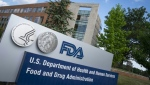 A sign for the Food And Drug Administration is seen outside of the headquarters in White Oak, Maryland. (AFP)