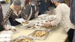 "More than 20 volunteers stepped up and offered a helping hand in an act of kindess organizers are calling ""One Good Meal."" Nov. 22/20 (Molly Frommer/CTV News Northern Ontario)"