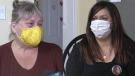 Lisa Foggia and Rhonda Forcier recently befriended each other, after both experienced the loss of their children to overdose deaths. Nov. 22/20 (Christian D'Avino/CTV News Northern Ontario)