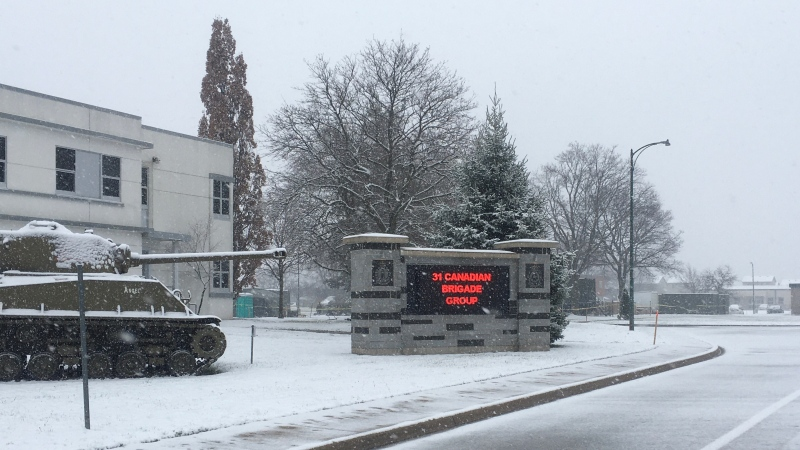 Wolseley Barracks in London Ont. on Nov. 22, 2020. (Brent Lale/CTV London)
