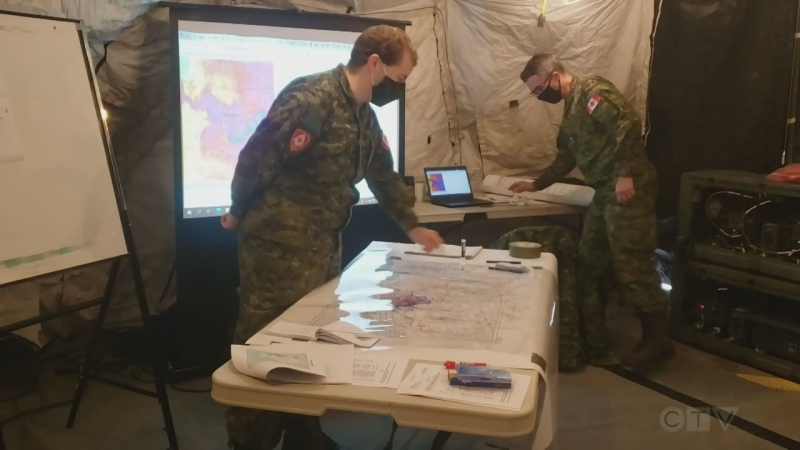 Canadian soldiers training