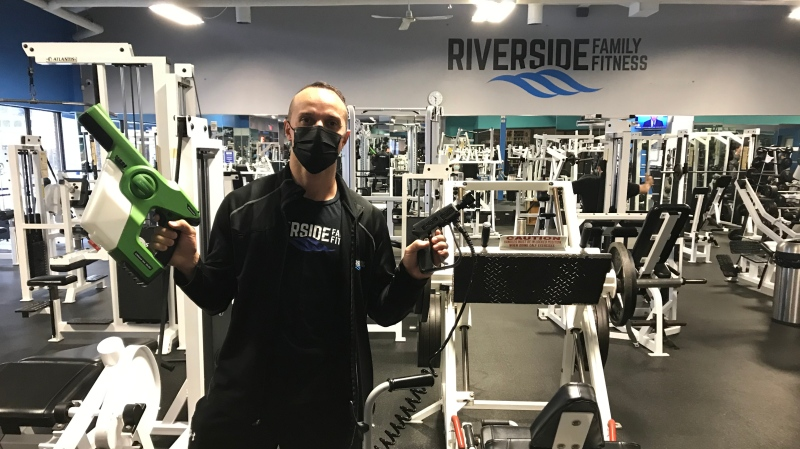 Joey Flores, owner of Riverside Fitness in Windsor, Ont. on Sunday, Nov. 22, 2020. (Angelo Aversa/CTV Windsor)