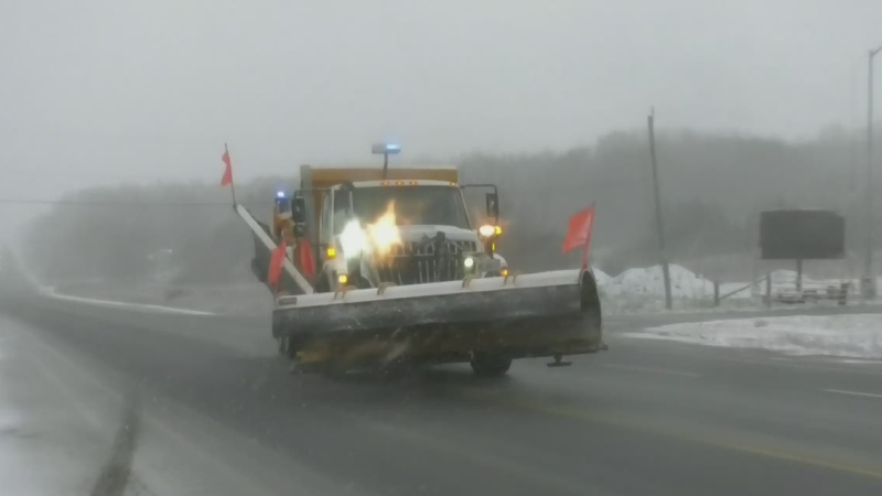 Parts of Simcoe County blanketed by a snowfall warning